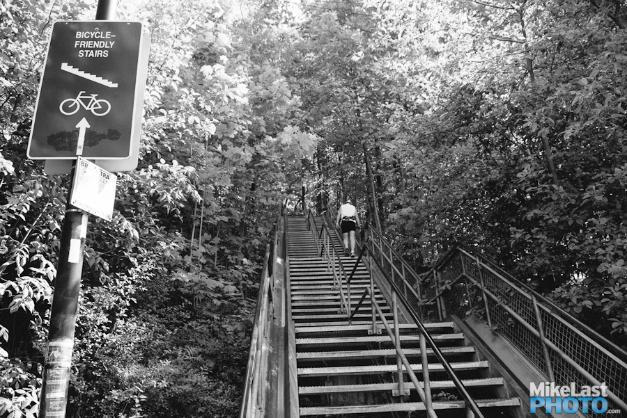 Bicycle Stairs - Chedoke Creek - Hamilton, ON