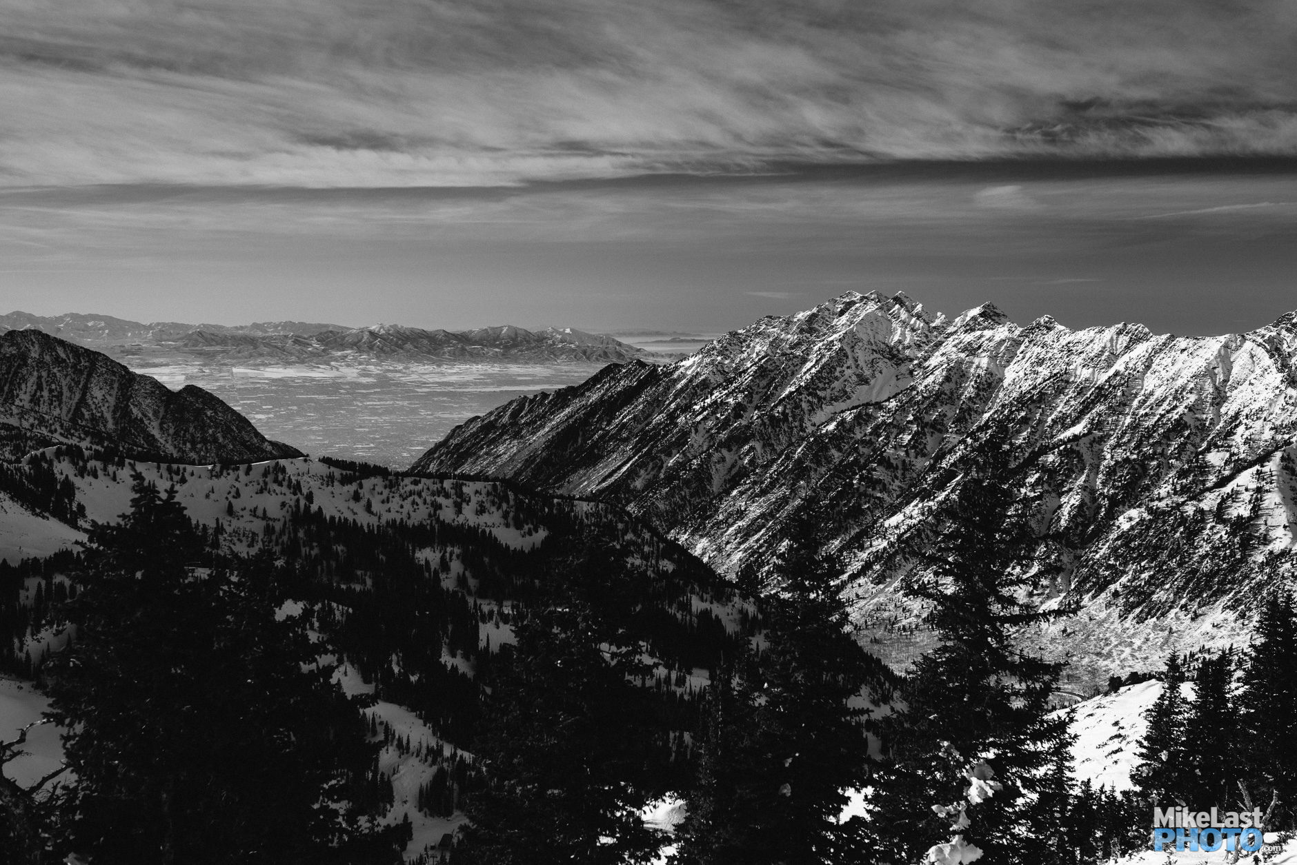 Mt. Superior and the Oquirrhs from Snowbird, UT.