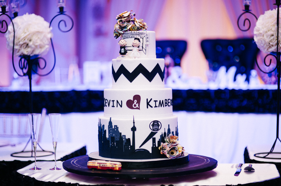 TTC Streetcar Cake - Kim and Kevin - Paradise Banquet Hall - Vaughan Ontario