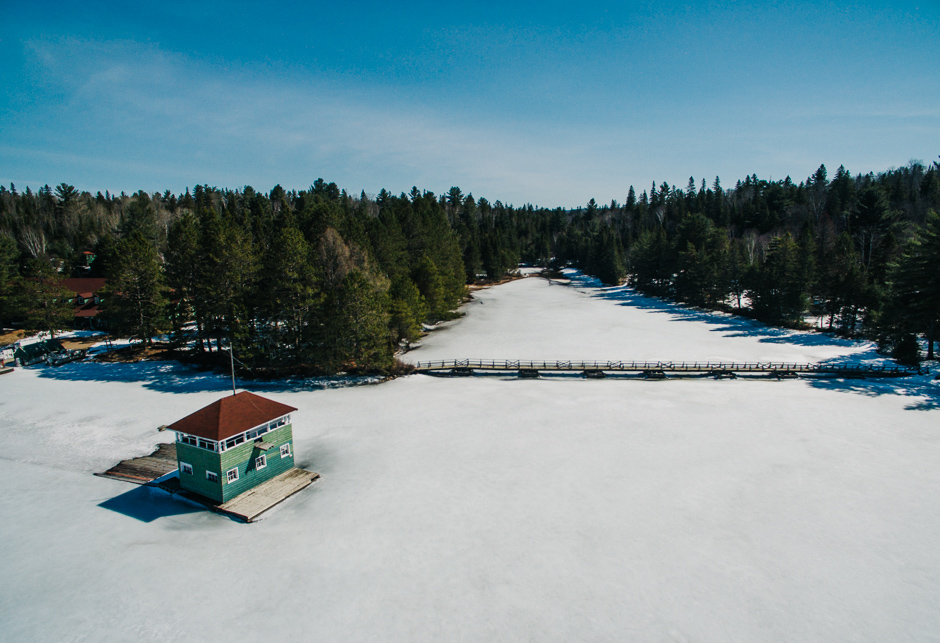 The Sailors Clubhouse in Spring - Canoe Lake - Algonquin Park, Ontario