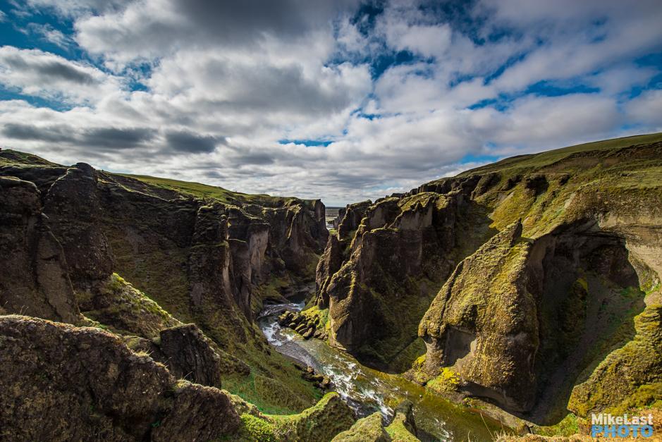 Fjaðrárgljúfur Canyon Gorge