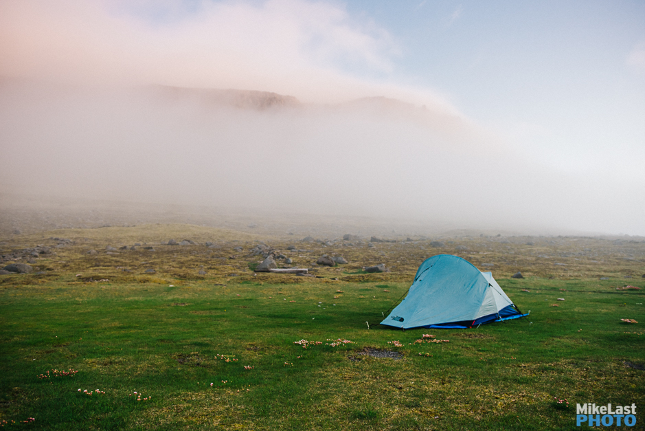 Camping at Látrabjarg