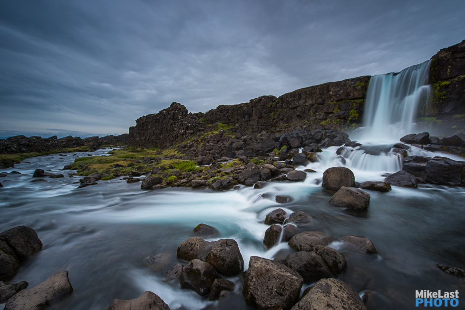 Oxararfoss Waterfall at Thingvellir National Park