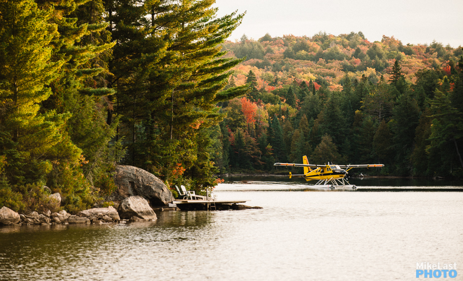 Ministry of Natural Resources Float Plane Takeoff on Smoke Lake, Algonquin Park