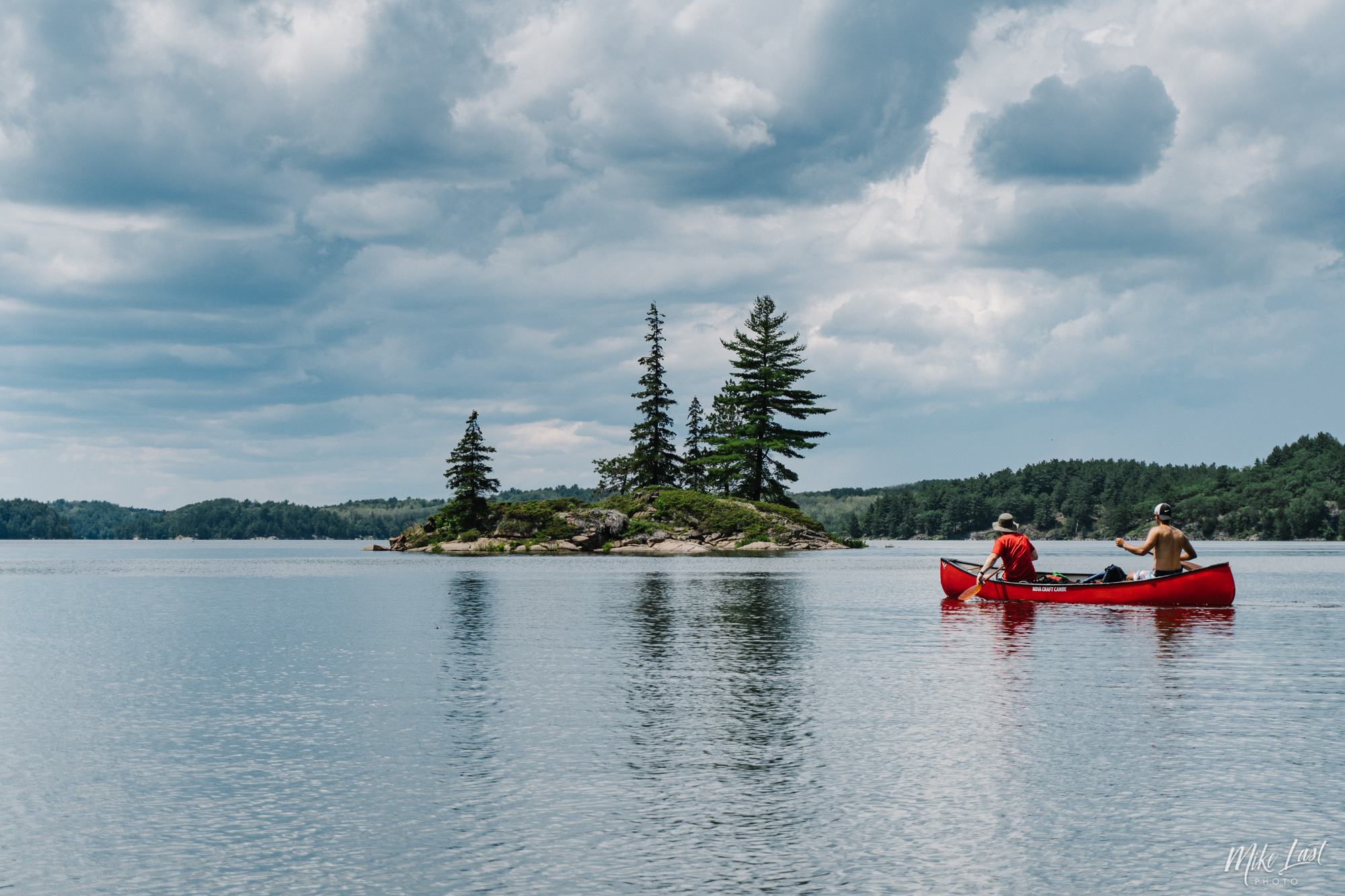 Paddling Across Bear Lake - Killarney Provincial Park
