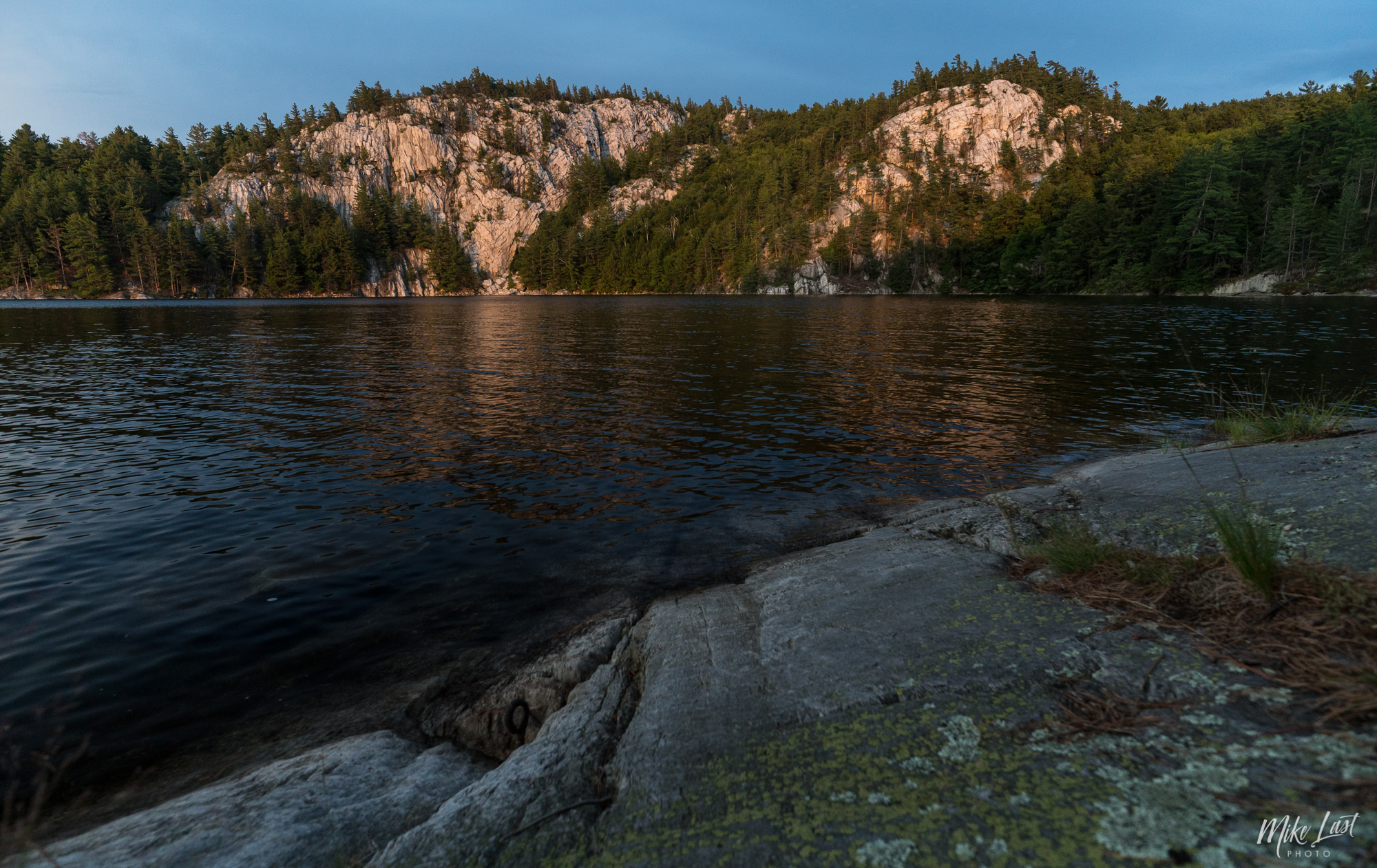 Sunset on the Cliffs of Great Mountain Lake - Killarney Provincial Park