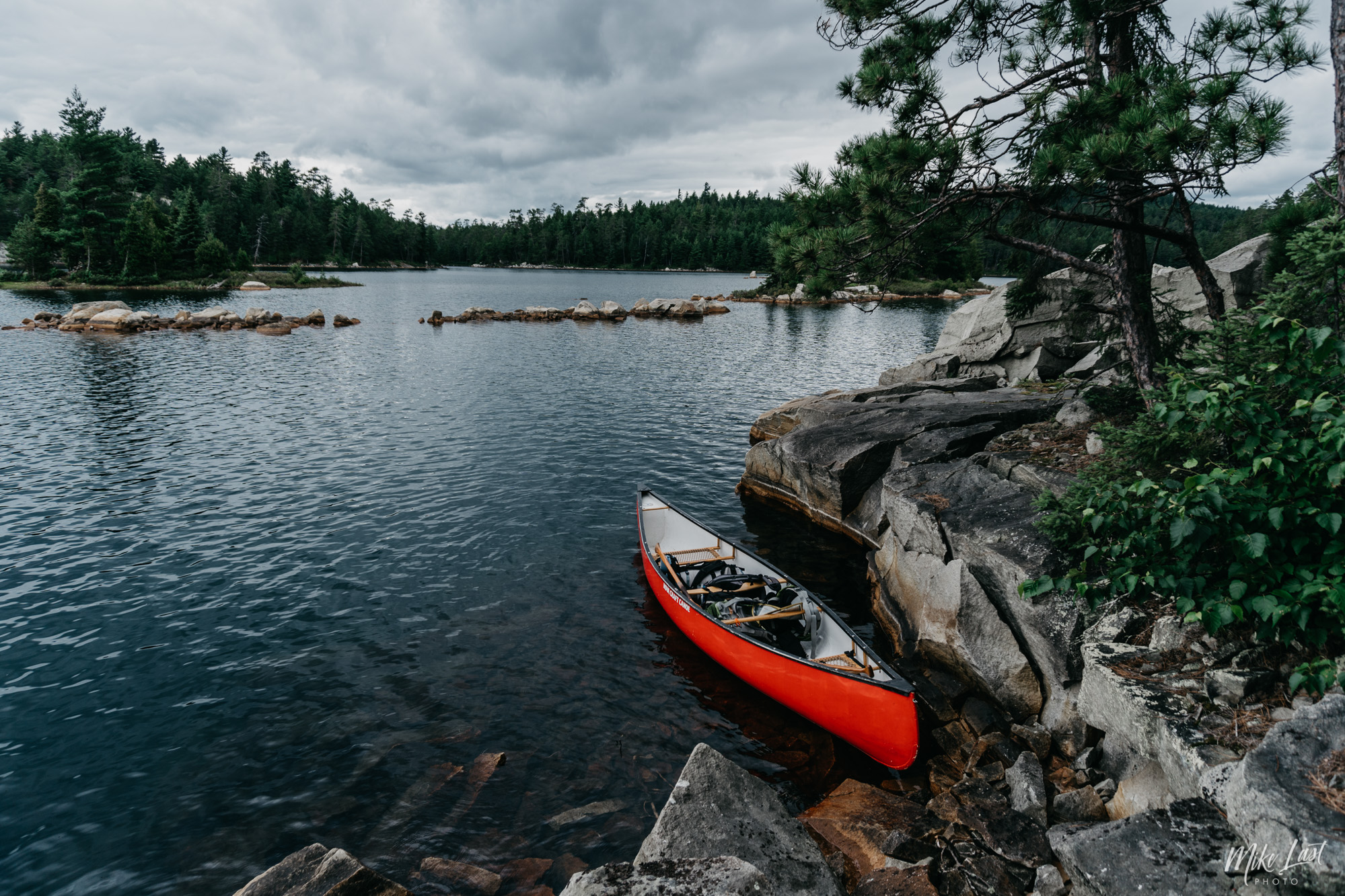 Canoe on Wolf Lake, Old Growth Forest Reserve - Temagami, ON
