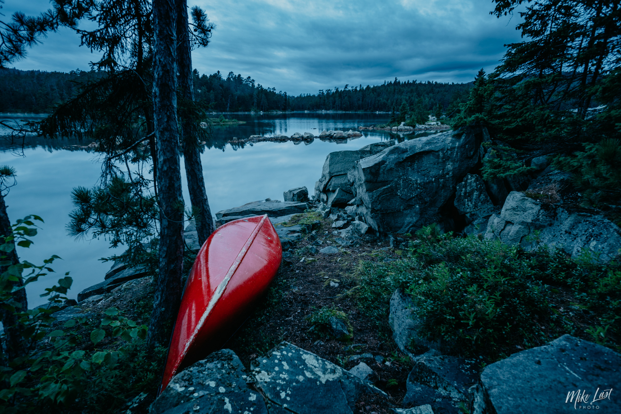 Canoe on Wolf Lake - Temagami, ON Canoe Trip