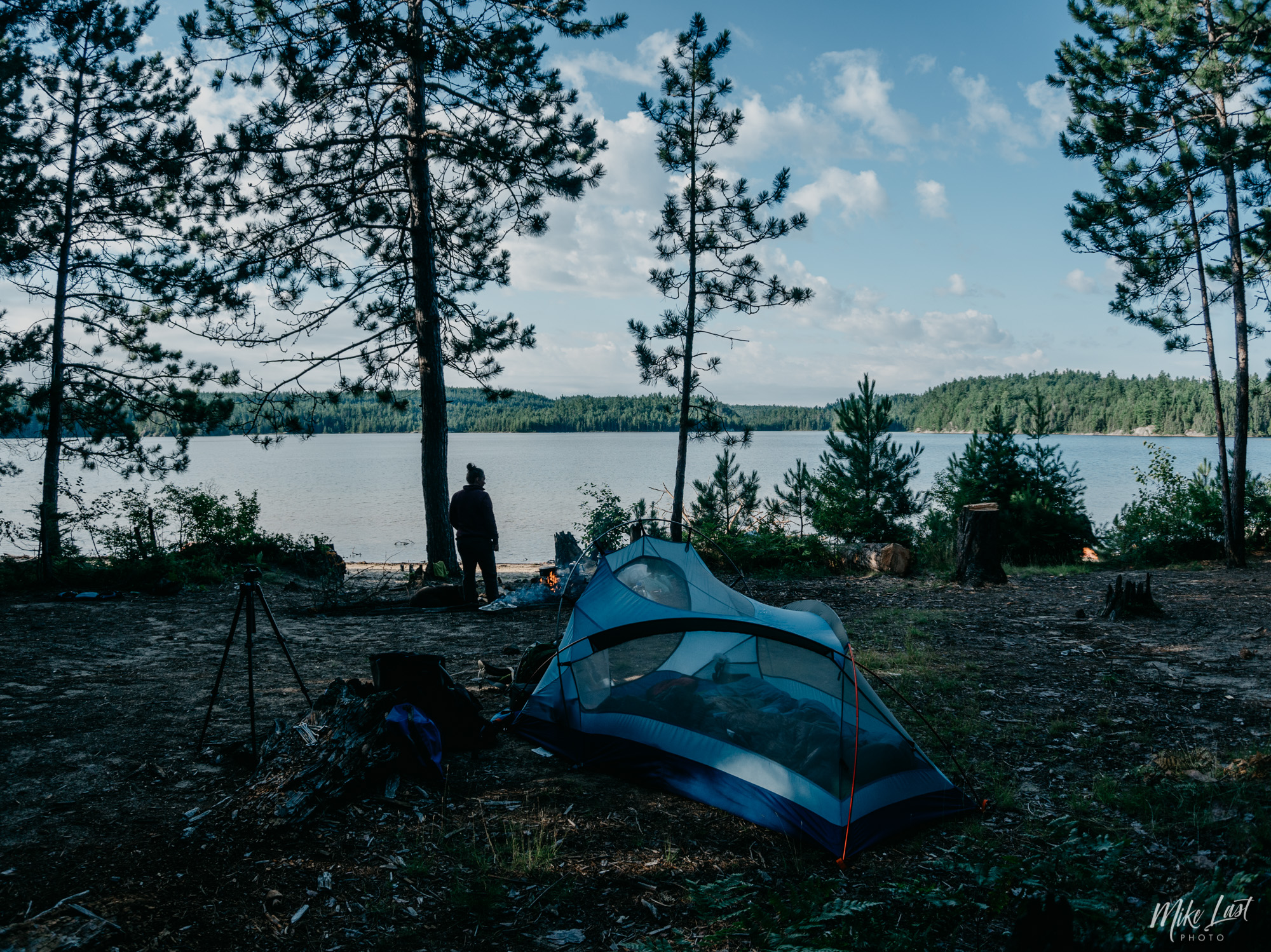 Campsite on McConnell Bay - Temagami, ON
