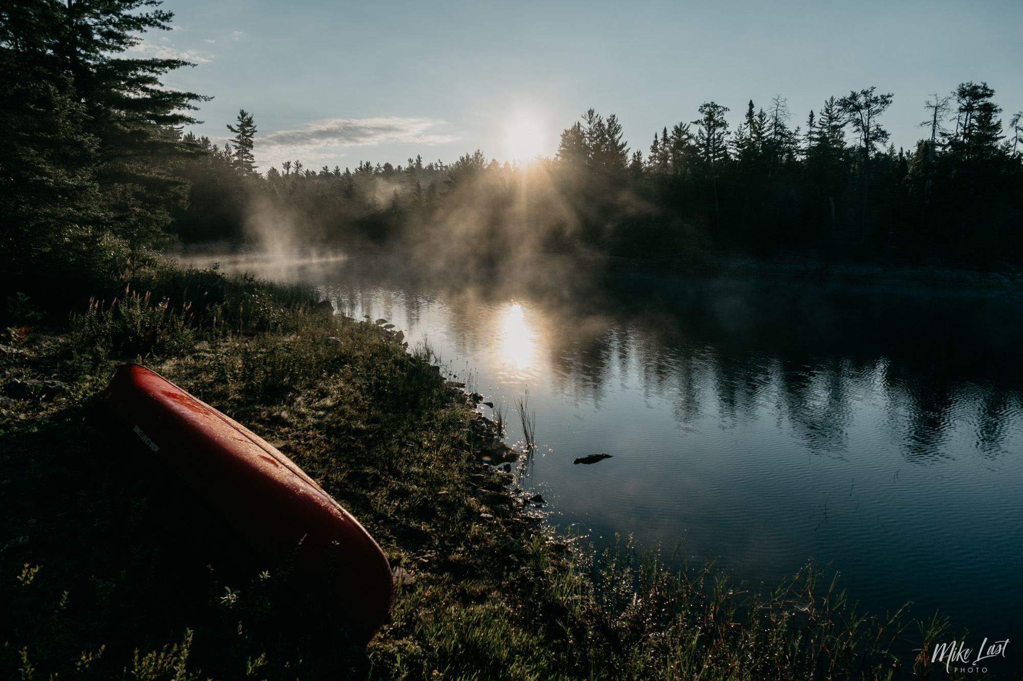 Sunrise on Wessel Lake - Temagami, ON Canoe Trip