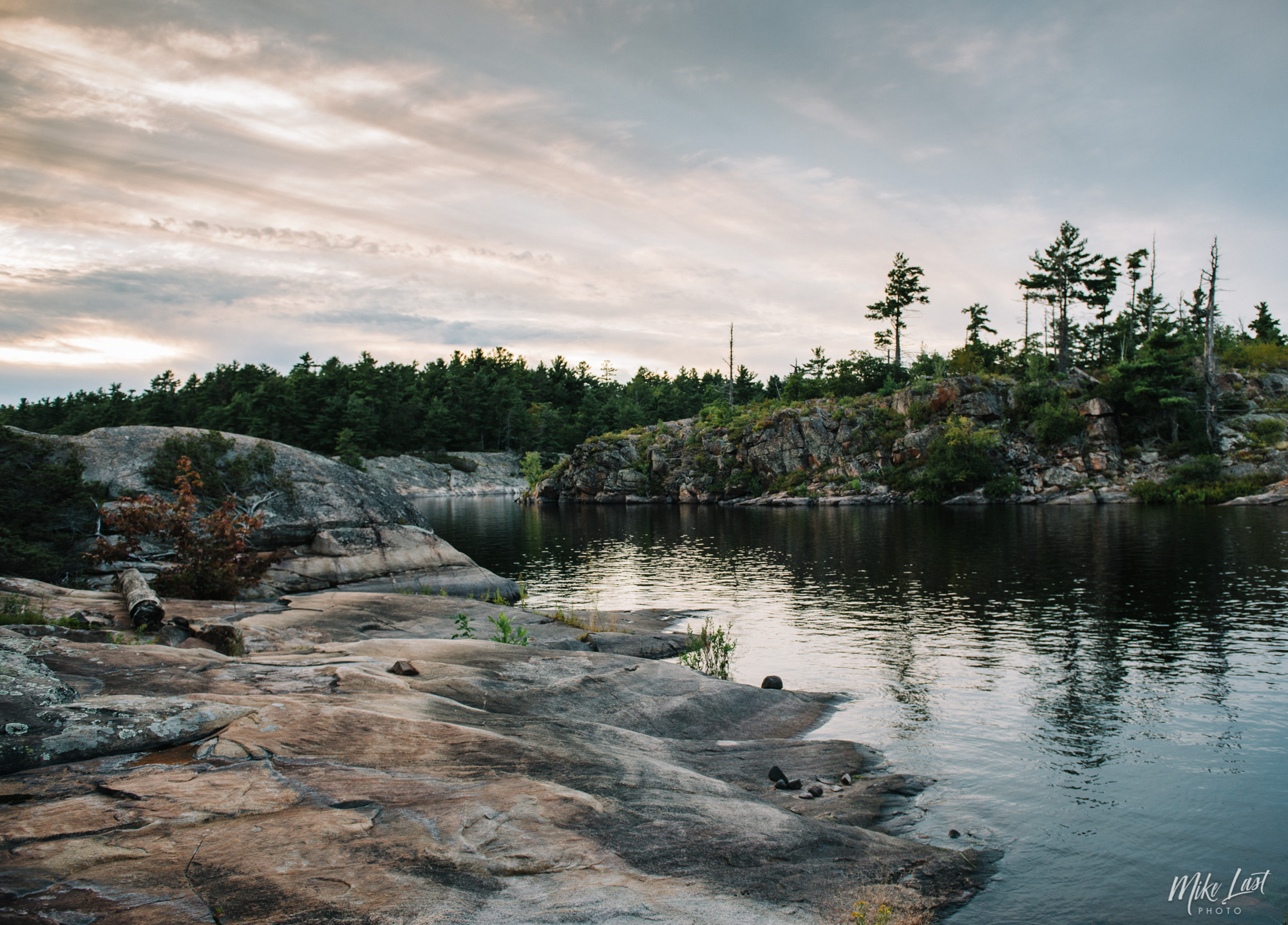 Canoe Trip Night One on Merringer's Island - French River Provincial Park