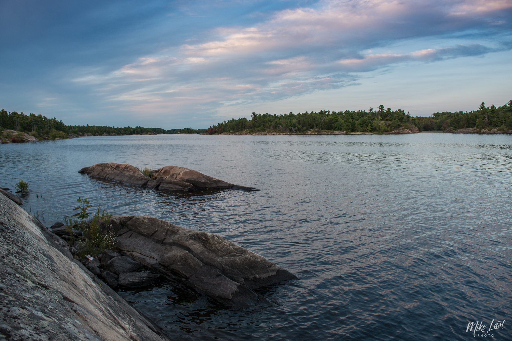 Sunset on Canoe Channel in the French River Provincial Park
