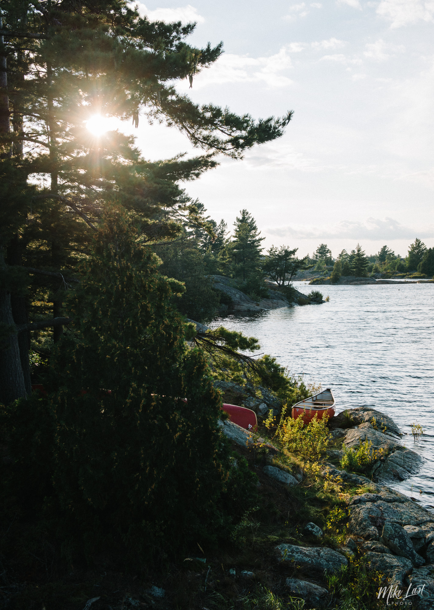 Camp Site on Obstacle Island - French River Provincial Park