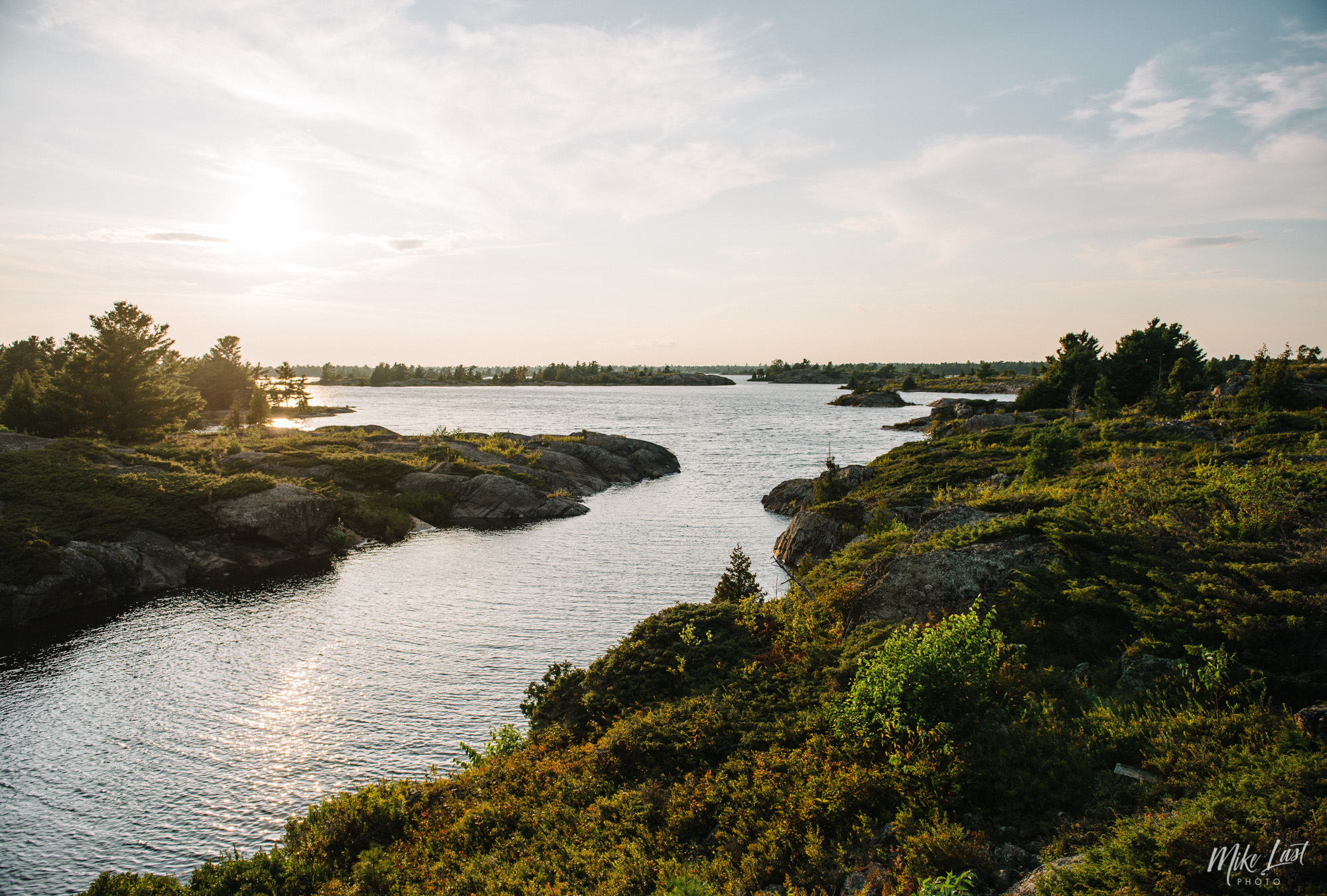 Sunset on Obstacle Island - French River Provincial Park