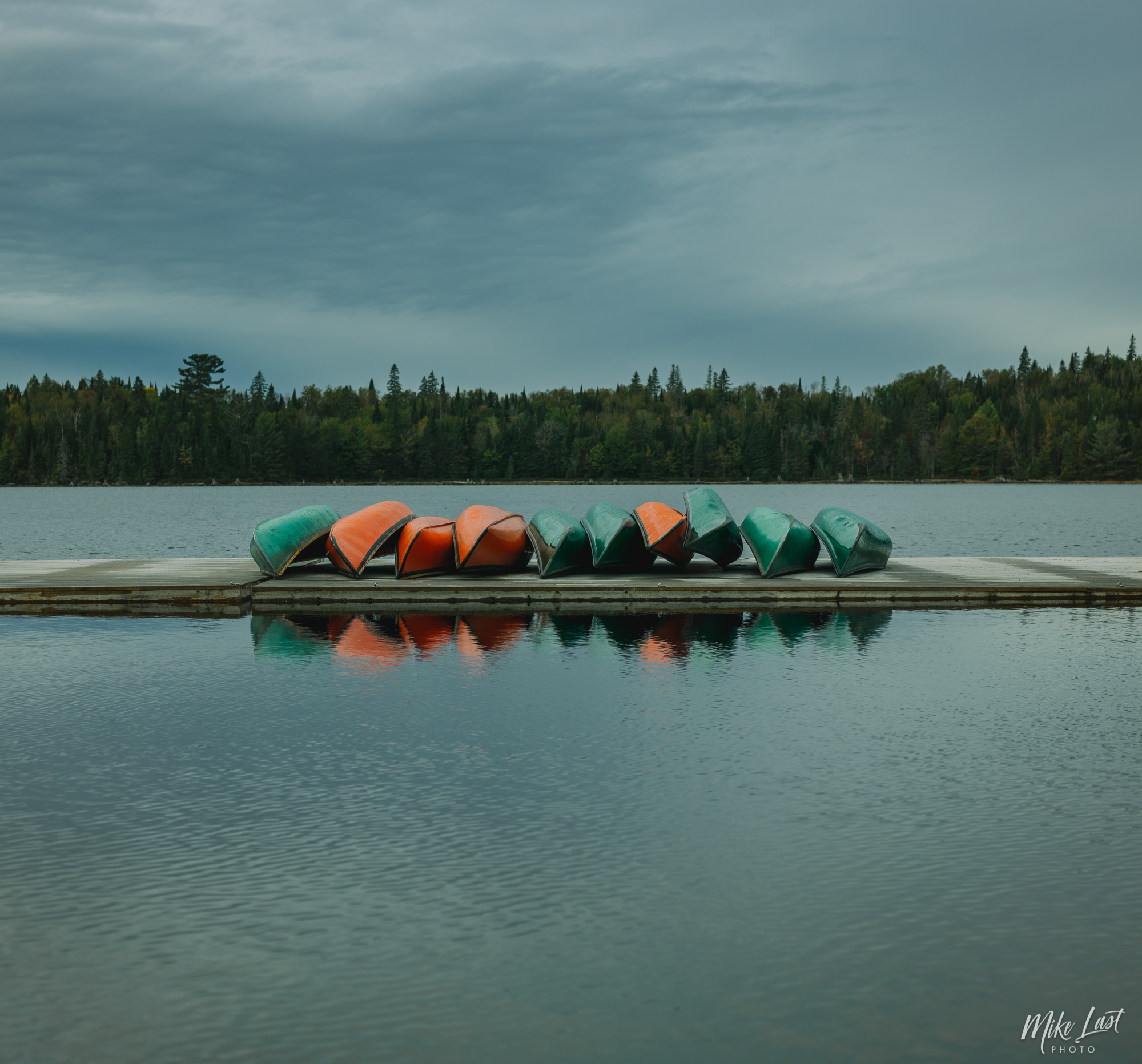 Canoes Ready for Winter