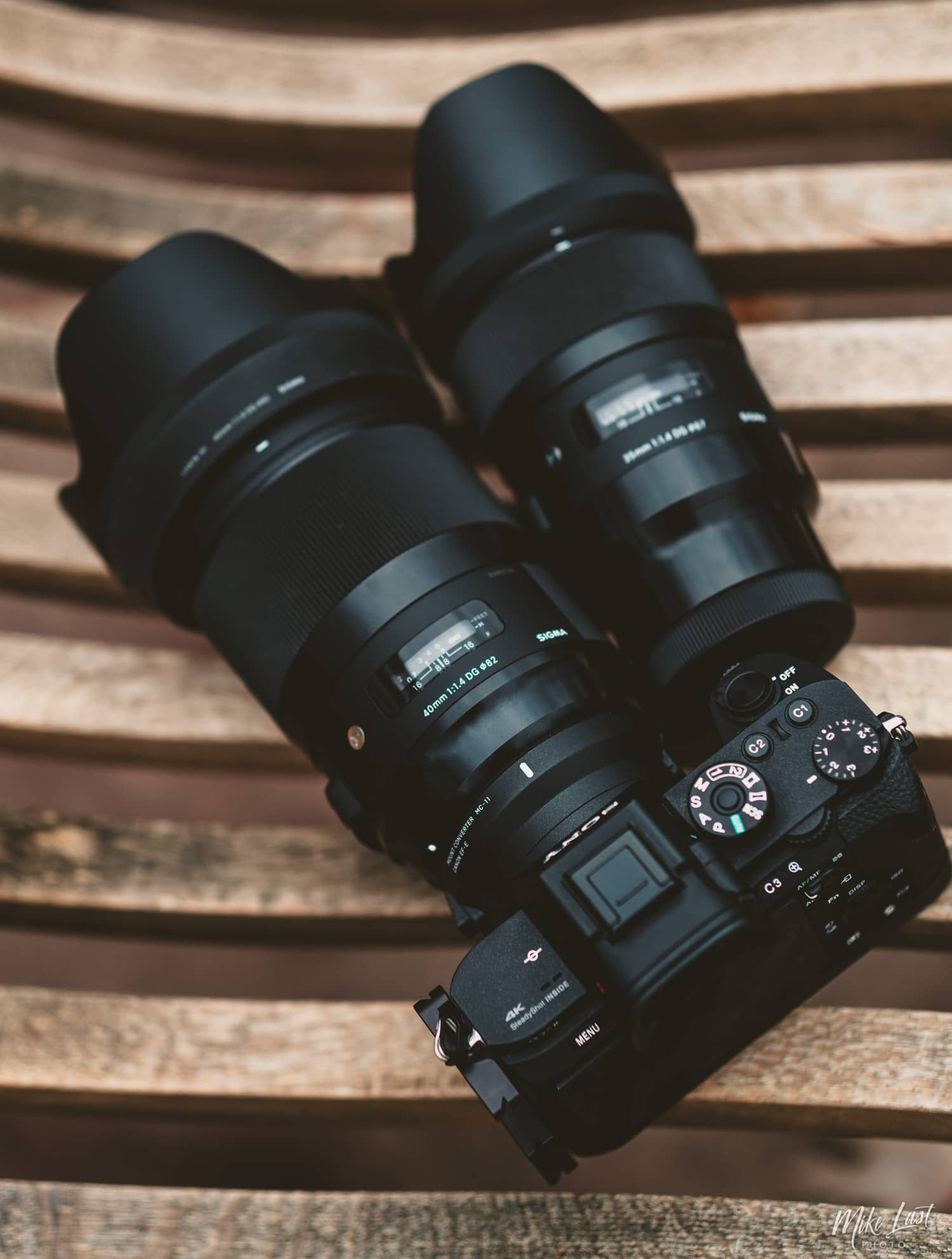 Sigma 40mm Art lens with MC-11 compared to 35mm Art E-Mount lens